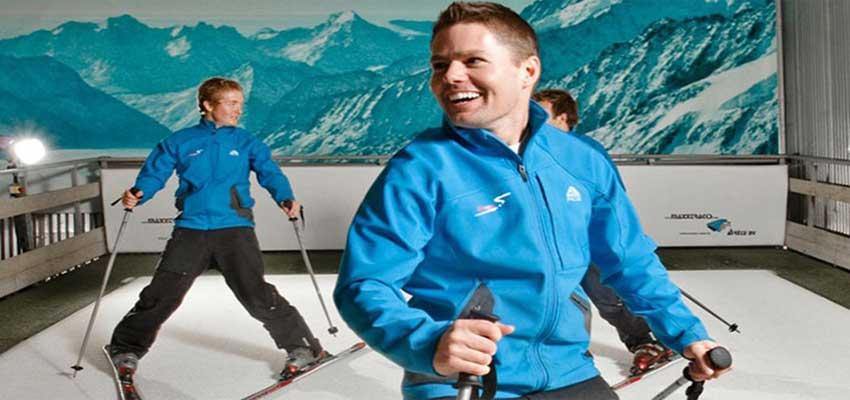 indendørs ski er den sjove gave