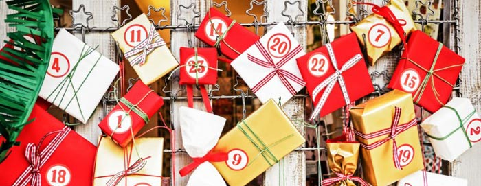 pakkekalender med 24 gaver