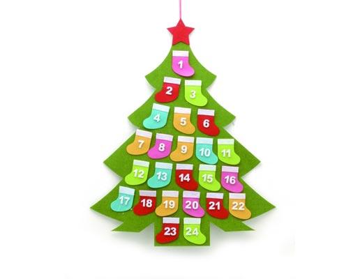 den færdige gavekalender er nemt