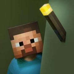 Minecraft fakkel / torch lampe i gave til drenge