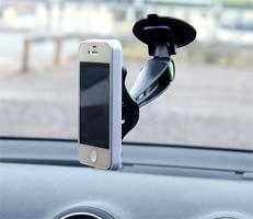 brug en mobilholder til telefonen i bilen