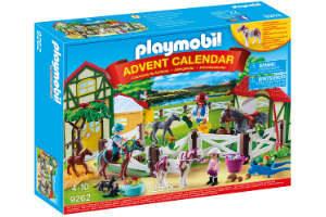 giv den sjove Playmobil julekalender med heste til pigen