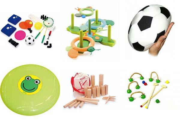 forskellige spil til udendørs brug for børn