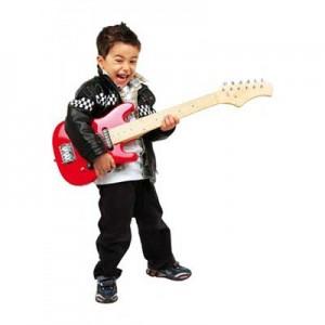 til drengen der vil være rockgud kunne en el legetøjsguitar være sagen