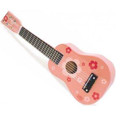 denne er en oplagt guitargave til piger i lyserød farve
