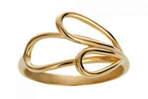 Zöl forgyldt ring er perfekt til de unge