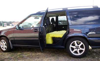 en oppustelig bilseng er den sjove praktisk gadget