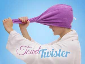 towel twister i gave sikrer hurtigt tørt hår for hende