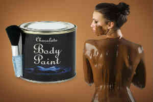 køb det sjove chokolade bodypaint til at skabe den sjove romantik