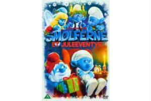 giv smølferne juleeventyr bog i mandelgave til børnene