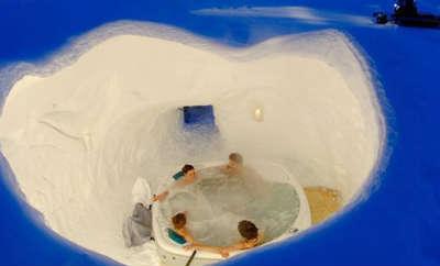 køb et romantisk iglo ophold med spa