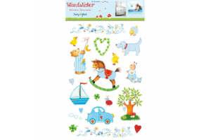 køb den sjove wallstickers til børneværelset i gave