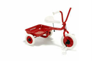 A tricycle is one of the many baptismal gifts desired