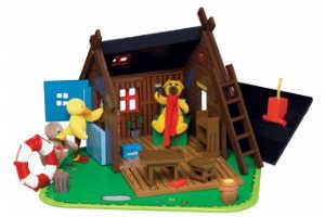 giv det sjove Bamse dukkehus i gave til barnet