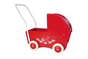 giv den røde krea dukkevogn i gave til 1 års piger