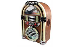 giv ham den fede retro jukebox spiller i gave
