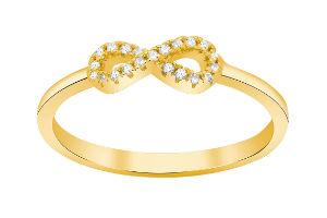 Køb den populære forgyldte undeligheds ring i gave til hende