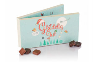 køb en chokolade og marcipan julekalender