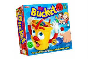 Køb det sjove Mr Bucket spil i julegave til 3 årige