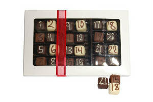 Giv marcipan og chokolade kalender i julen