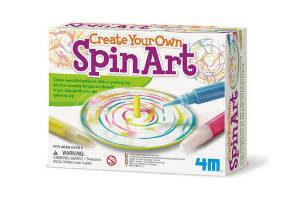 Køb den sjove spinart malesæt til 7 årige