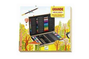 Køb en Djeco kuffert med farver i gave