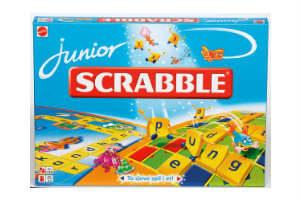 Køb et sjovt brætspil i gave som Scrabble Junior